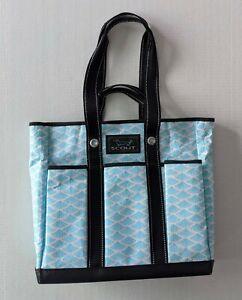 SCOUT Pocket Rocket Large Tote Bag Blue White Zip Top