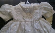 Lovely christening baby dress, size 6-12 months- 00-0 Brand New
