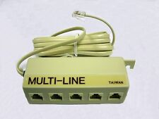 Telephone Adapter 7M1-110 Multi Line with 5 RJ-14 Jacks CEI Ivory 2 pcs
