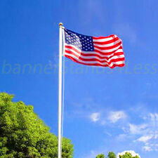 20 ft Sectional Aluminum flagpole US American USA 3x5 Flag Pole Gold Ball Kit