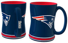 New England Patriots Coffee Mug - 15oz Sculpted [NEW] Tea Warm Microwave Cup CDG