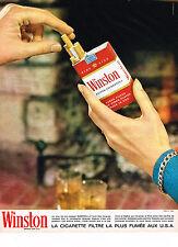 PUBLICITE ADVERTISING  1964   WINSTON  cigarettes 1