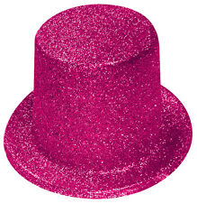 Pink Glitter Top Hat - Fancy Dress Party Accessories
