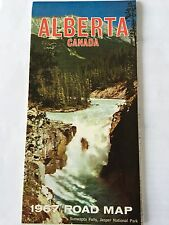 1967 Alberta Province-issued Vintage Road Map Canada