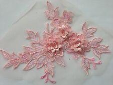 3D lace applique motif  flower patch  mesh sewing bridal wedding 19 cm*15 cm