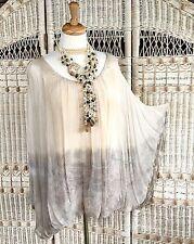 NWT XL $195 STUNNING Joseph Ribkoff Made in ITALY Silk Rayon Tunic Art to Wear