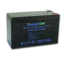 LiFePo4 6Ah Battery 12.8V Lithium Iron Phosphate 12V Heavy Duty Long Life