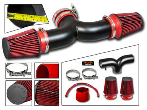 RTunes Racing Dual Twin Air Intake Kit+Filter For 2004-2007 JEEP Liberty 3.7L V6