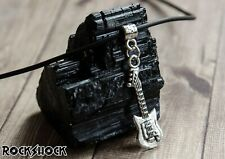 Electric Guitar Pendant Necklace Silver Rock Unisex Jewellery Music Gift 3.1cm