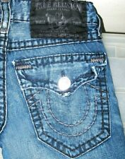 *HOT! AUTHENTIC USA Men TRUE RELIGION @ BILLY SUPER T BOOTCUT DARK Jeans 28 x 32
