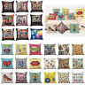 Home Decor Cushion Cover Happy Sunmer Time Throw Pillowcase Case Pillow Covers