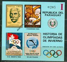 Paraguay Olympische Spiele Olympic Games MUESTRA de Coubertin block