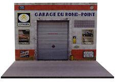 Diorama présentoir Citroën Garage du Rond-Point - 1/18ème - #MR18S013