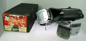 Oster Progienic Heavy Duty Model 10 Electric Hair Clipper Box w Blades Works