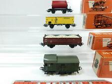 BF188-0,5# 4x Märklin H0/AC Güterwagen etc DB: 4509+4513+4600+4603, sehr gut+OVP