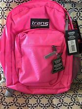 Trans by JanSport Supermax Backpack - Pink easy Zip Closure Laptop Pocket