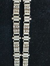 Unusual Pair of Sterling Silver Bracelets Ethnic style 925
