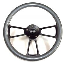 1969 - 1994 Camaro SS Carbon Fiber Steering Wheel Black Powder Coated Full Kit
