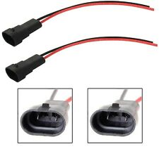 Wire Pigtail Male 9005 HB3 Two Harness Light Bulb DRL Daytime Lamp Socket Plug