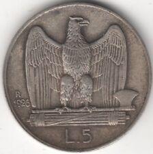 1926 ITALIA VITTORIO EMANUELE III ARGENTO 5 LIRE *** Da collezione ***