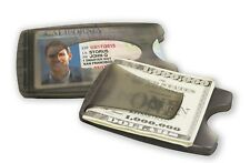 Smart Money Clip Lite, Double Sided Money Clip For Cards and Cash, Gray