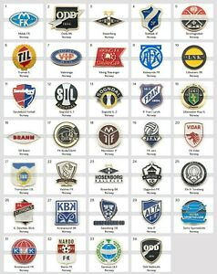Metal Pin Norway Football Clubs European Soccer Part 1