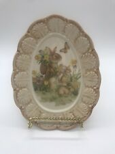 """New listing Vintage """"Cracker Barrel� Easter Traditions Rabbit Egg Shaped Plate, Very Rare"""