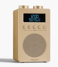 John Lewis & Partners Spectrum Solo DAB+/FM Portable Digital Radio - (Gold) B+