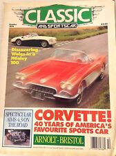 Classic And Sportscar Magazine Corvette Arnolt Bristol October 1992 081617nonrh3