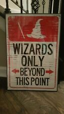 Wizards Only Beyond This Point framed print New Harry Potter Swording Hat