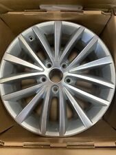 """Volkswagen Jetta 2011-2016 17"""" OEM Wheel Rim Machined with Silver"""