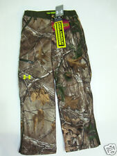 NWT Boys Under Armour Youth Small Infrared Scent Control Rut Camo Hunting Pants