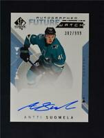 2018-19 UD SP Authentic Future Watch Auto #203 Antti Suomela /999
