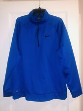 Nike Mens Blue Long Sleeve Dri Fit Half Zip Shirt Top Xxl