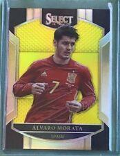 Alvaro Morata *Neon Yellow* 2016-17 Panini Select Soccer #24/125 - Spain