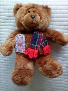 Bhs TD Bear teddy wearing scarf 15 inch soft toy