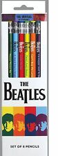 The Beatles Set of 8 Pencils