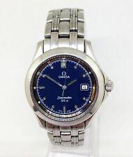 Men's OMEGA SEAMASTER 120M Quartz Watch. 37mm Case. Blue Dial. Date. Secs. hand.