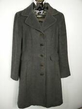 WOMENS MAX & CO GREY SINGLE BREASTED LONG SMART CLASSIC WINTER COAT SIZE 8-10