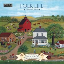 2019 Wells Street by Lang Folk Life Wall Calendar Mary Singleton NEW 12x12 WSBL