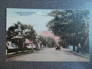 FILIPINAS MANILA SECTION OF THE AMERICAN RESIDENTIAL DISTRICT POSTAL ANTIGUA
