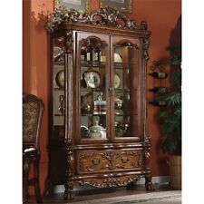 ACME Dresden Curio Cabinet in Cherry Oak