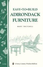 Easy-to-Build Adirondack Furniture Book~Instructions~Great for Beginners~NEW!