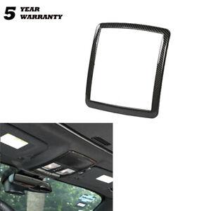 For Dodge Challenger 2010-19 Carbon Fiber Reading Light Lamp Cover Trim Sticker