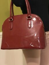 Mango large red patent leather purse