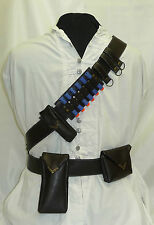 Bandolier / Utility Belt - Steampunk Adventurer Faux Leather - Metal Fitting Lot