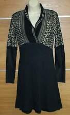 Black wool blend  tunic / dress size L
