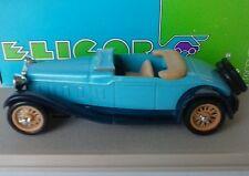 ELIGOR 1:43 AUTO DIE CAST DELAGE D8S CABRIOLET 1932 DECOUVERT AZZURRO ART 1003