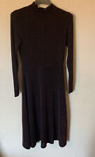 H&M Metallic Dress Size Small Copper Coloured Long Sleeved