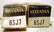 Pair of Sylvania 6SJ7 Sharp Cutoff Pentode Tubes~N.I.B.~N.O.S.